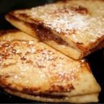Nutella Stuffed French Tortillas