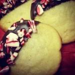 #cookieswap: Chocolate Peppermint Shortbread Cookies