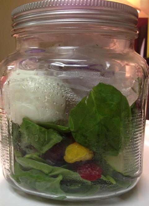 healthy salad in a jar