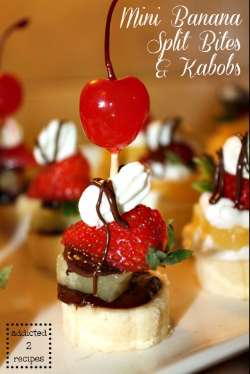 Mini Banana Split Bites and Kabobs