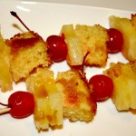 Pineapple Upside Down Cake Kabobs