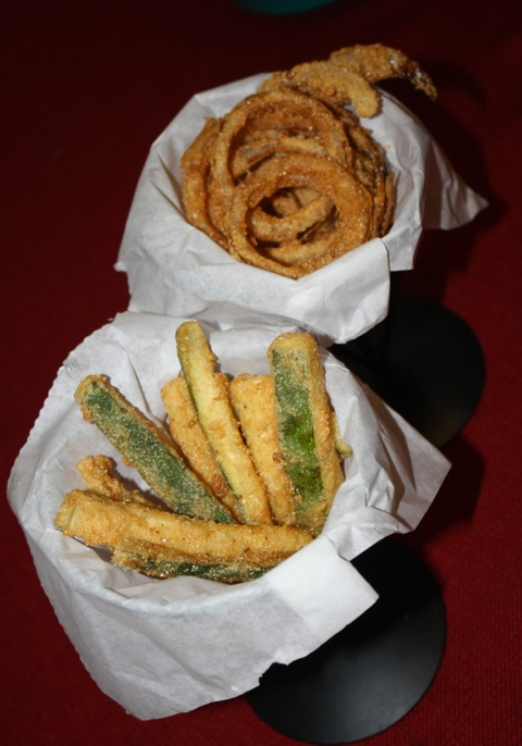 Fried Zucchini and Onion Rings
