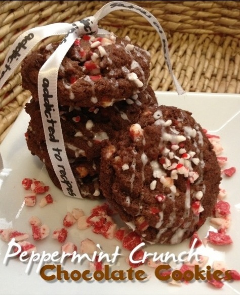 Peppermint Crunch Chocolate Cookies