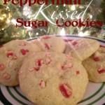 Peppermint Kissed Sugar Cookies