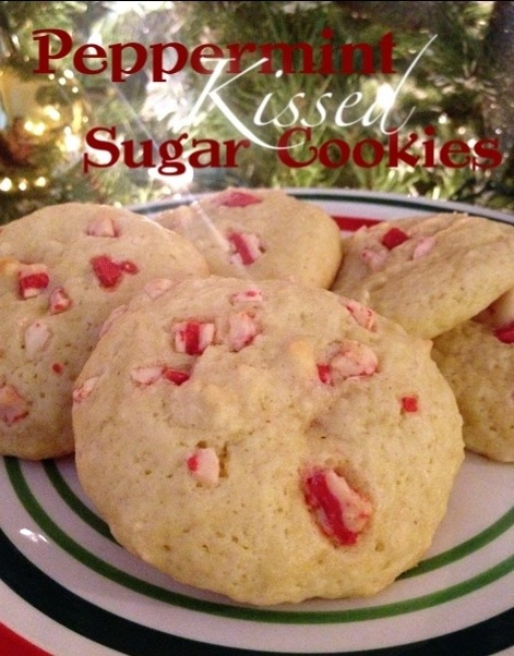 Peppermint Kissed Sugar Cookies