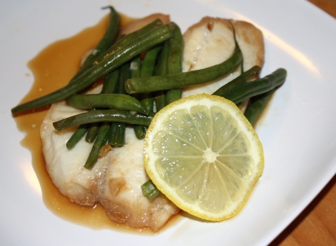 Teriyaki and Ginger Glazed Tilapia and Green Beans