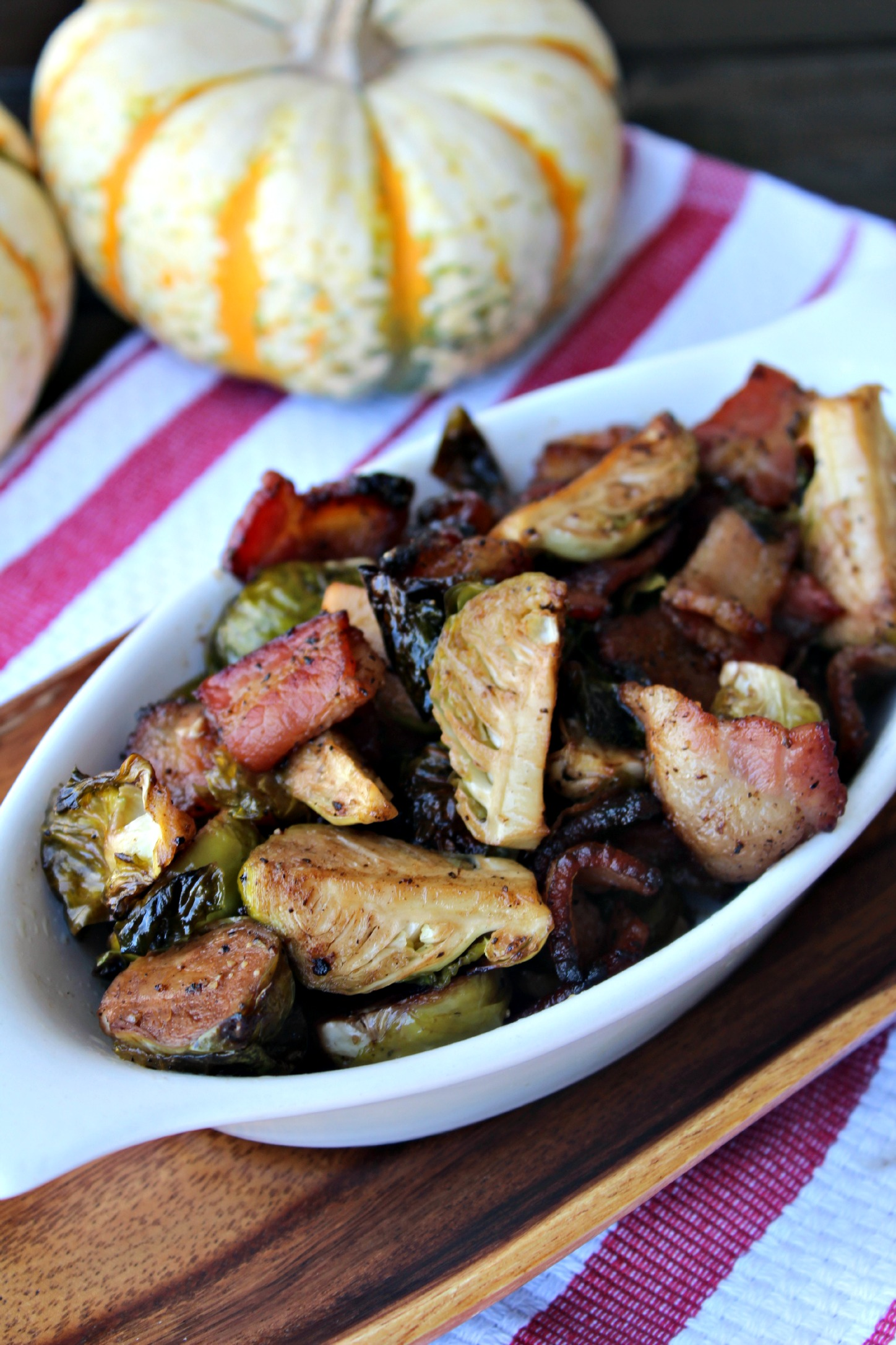 Roasted Brussel Sporuts with Bacon