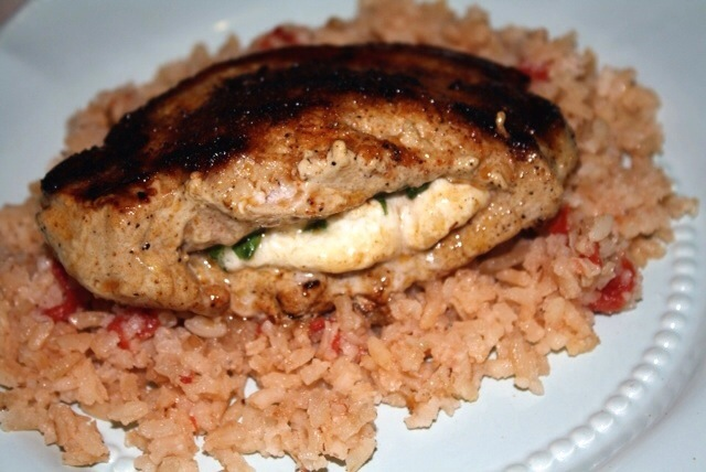 Cotija Stuffed Pork Chops