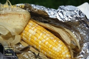 Lime and Chili Grilled Corn on the Cob #recipe #bbq