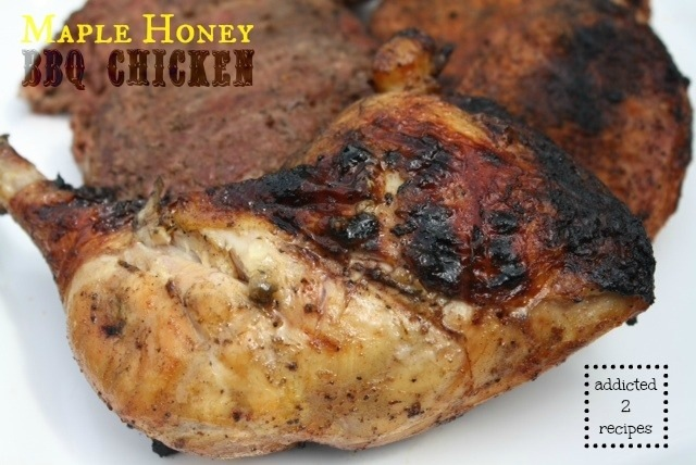 Maple Honey BBQ Chicken #recipe #grilling