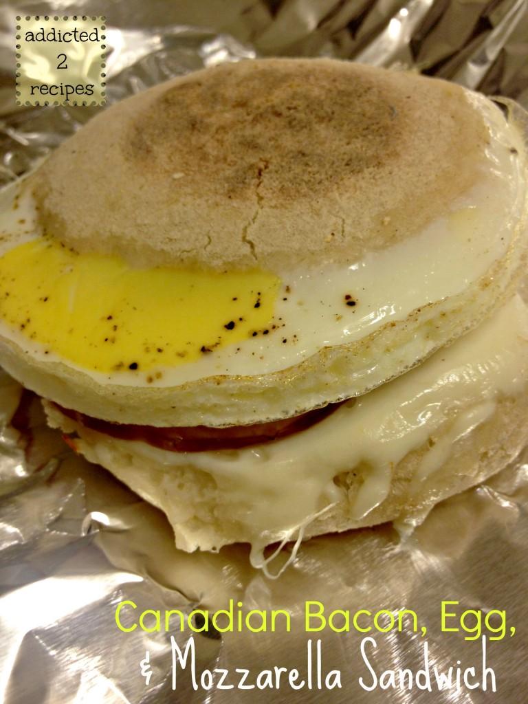 Canadian Bacon, Egg and Mozzarella Sandwich