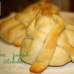 Chicken, Spinach & Artichoke Crescent Purse recipe #PurplePurse