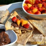 Nutella Crisps with a Strawberry and Peach Salsa