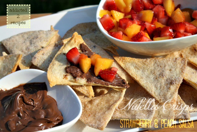 Nutella Crisps with Strawberry and Peach Salsa 2