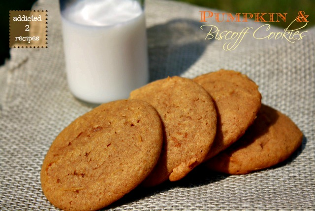 Pumpkin and Biscoff Cookies