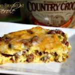Sausage Breakfast Casserole #QuickFixCasseroles