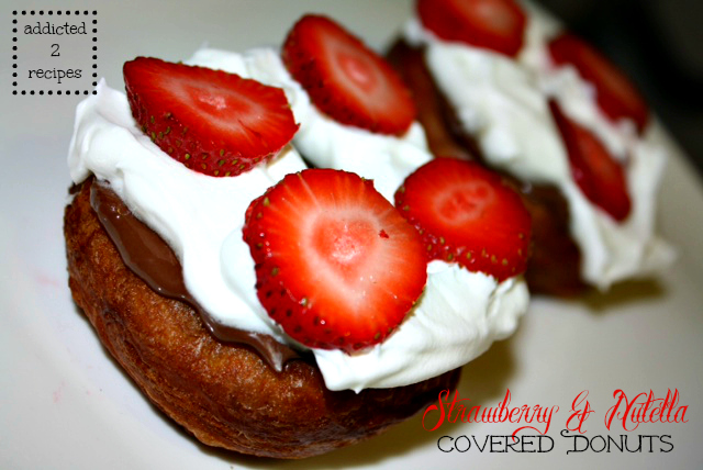 Strawberry & Nutella Covered Donuts