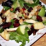Apple Chicken & Walnut Salad with Sweet Onion Dijon Dressing