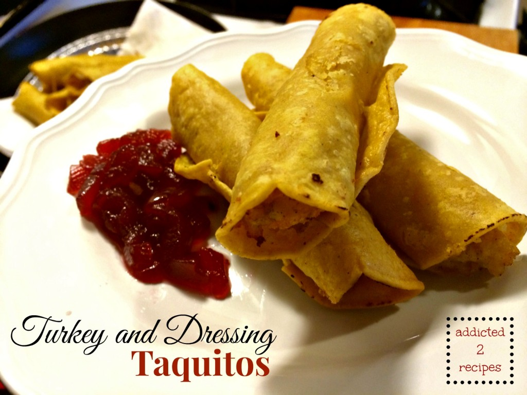 Turkey and Dressing Taquitos