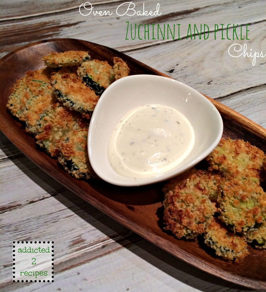 Oven Baked Zucchini and Pickle Chips