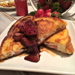 Cream Cheese Stuffed French Toast with Balsamic Roasted Strawberries