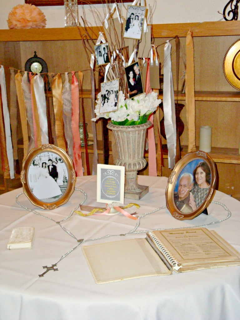 50th Wedding Anniversary Memory table
