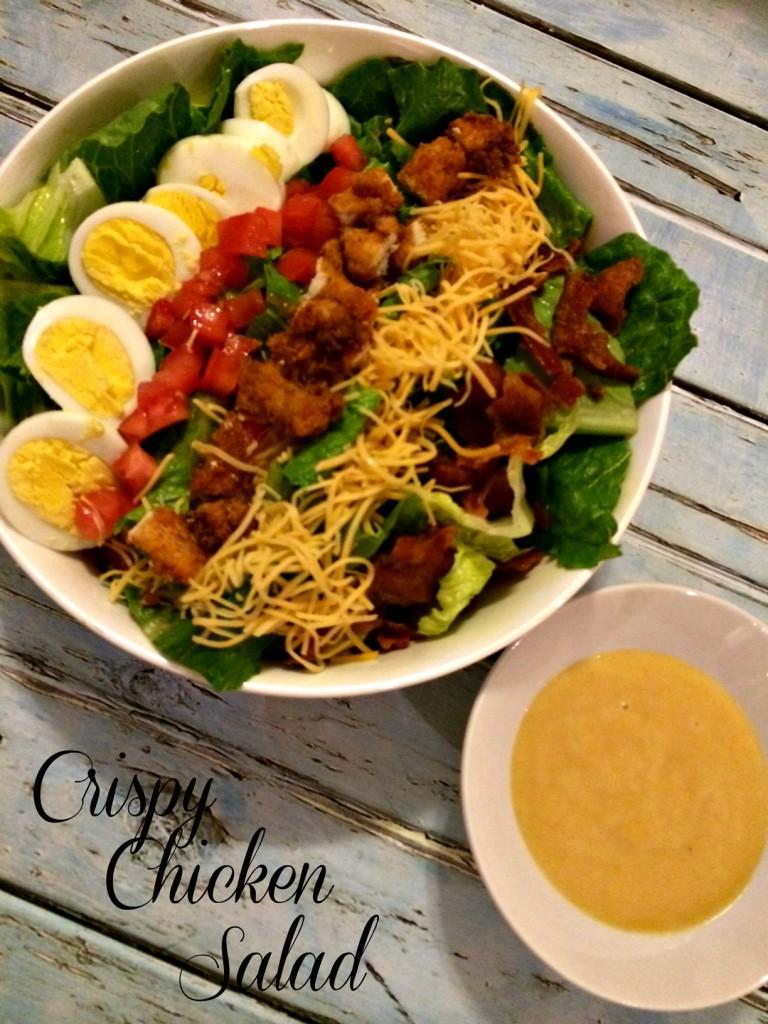 Crispy Chicken Salad @addicted2recipe