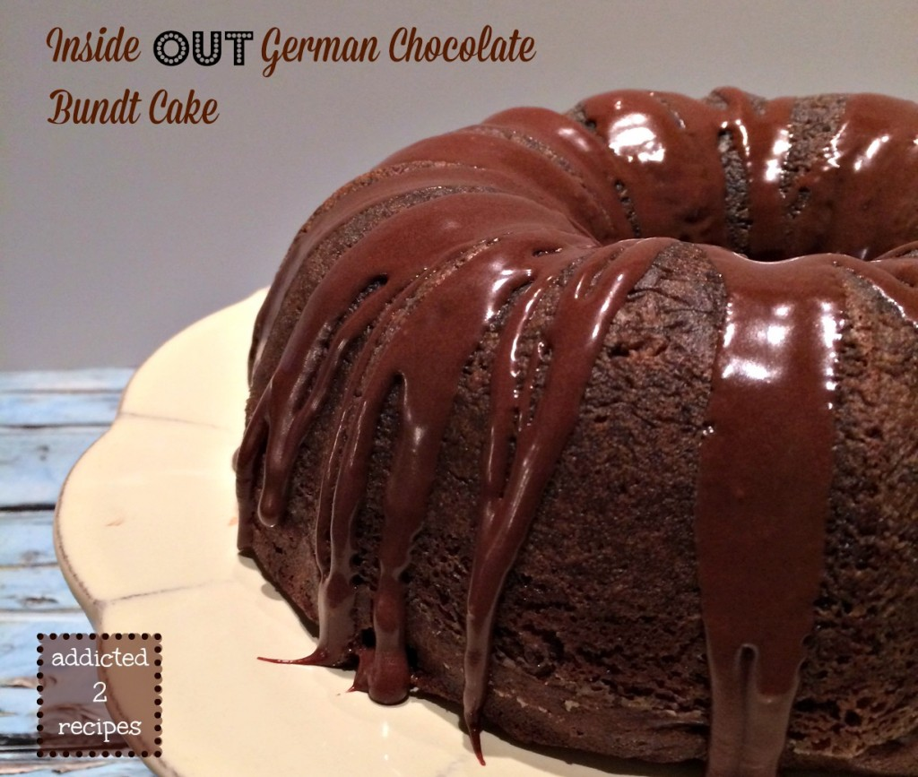 Inside Out German Chocolate Bundt Cake @addicted2recipe