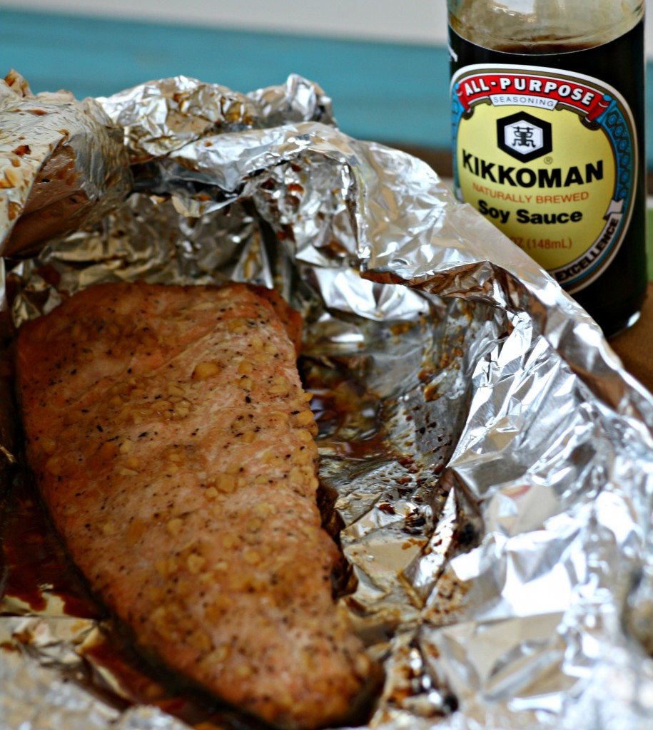 Soy Sauce and Brown Sugar Salmon Foil Packet Kikkoman