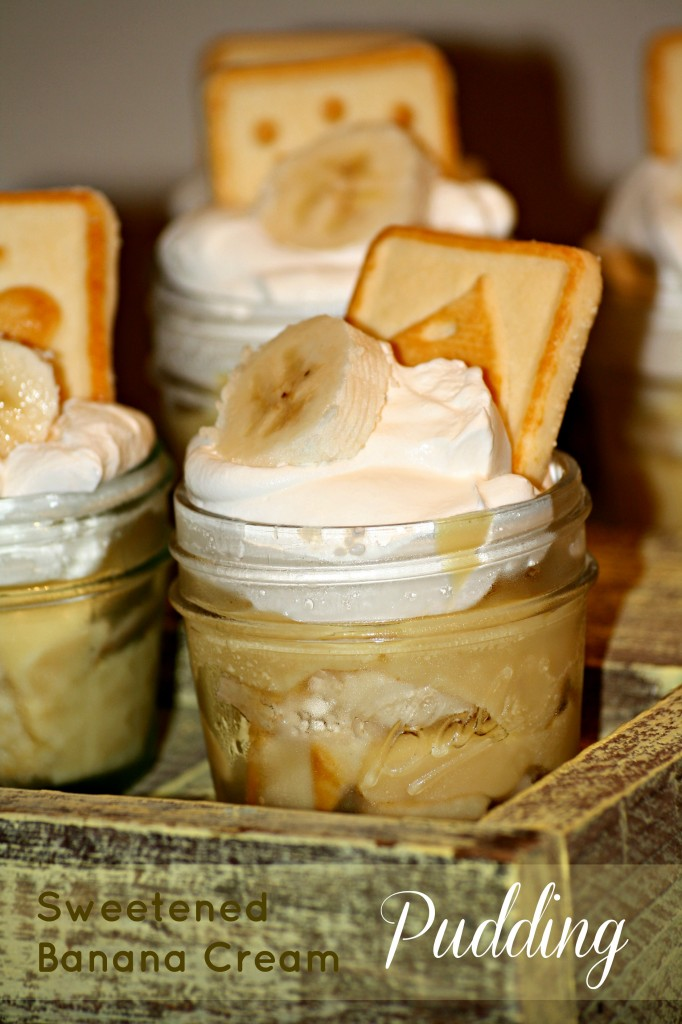Sweetened Banana Cream Pudding
