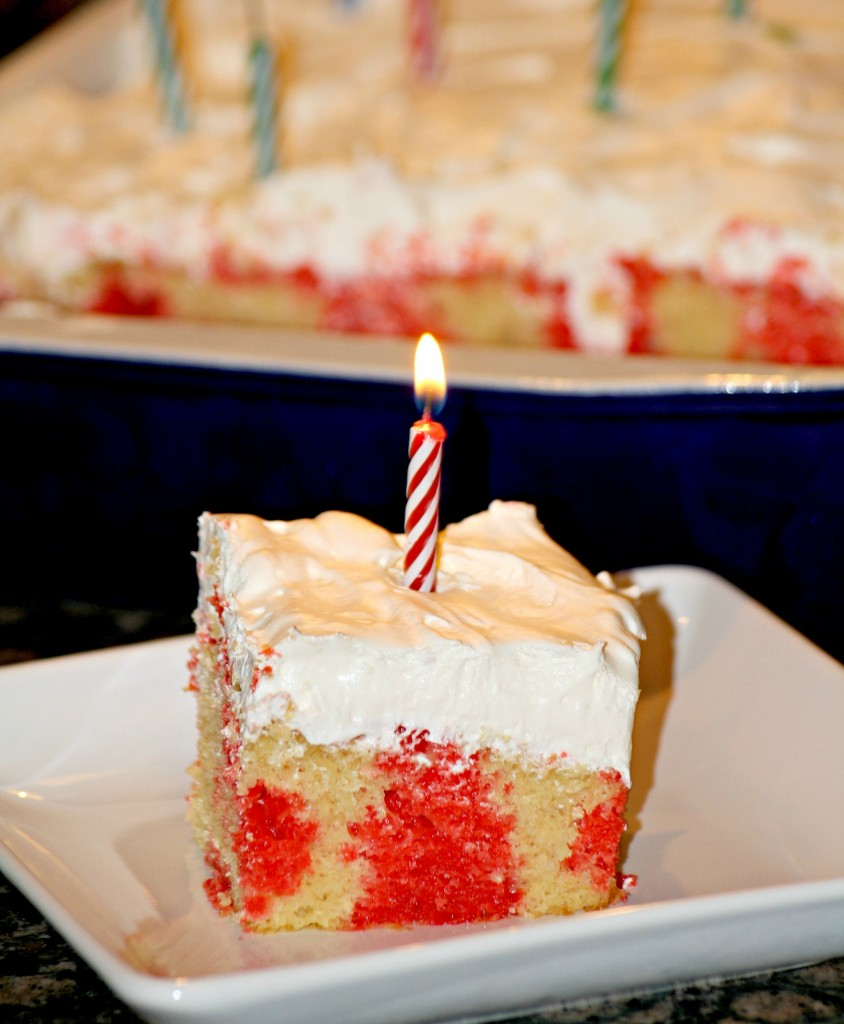 Big Red Poke Cake