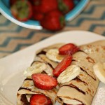 Nutella and Strawberry Crepes #ReadingFoodie: Gone Girl