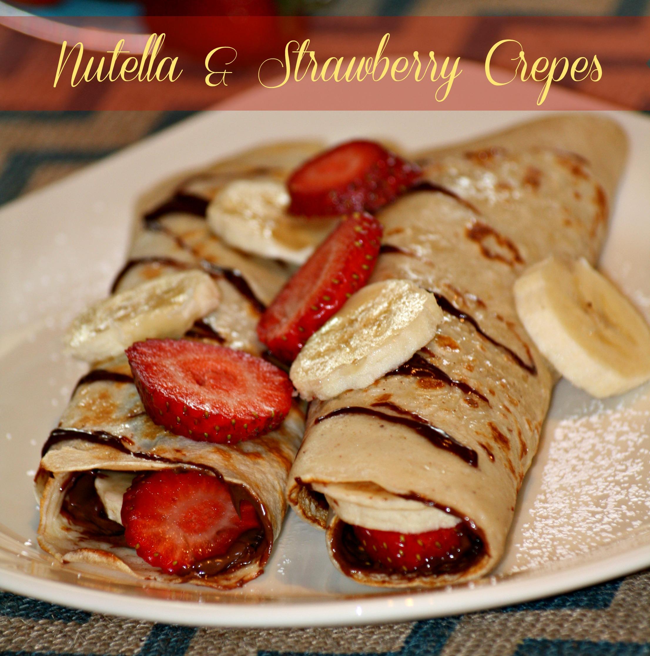 Strawberry And Nutella Crepes Recipe — Dishmaps