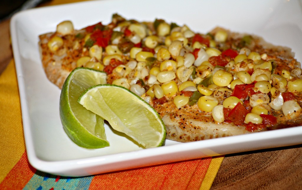 Tilapia and Roasted Corn Foil Packets