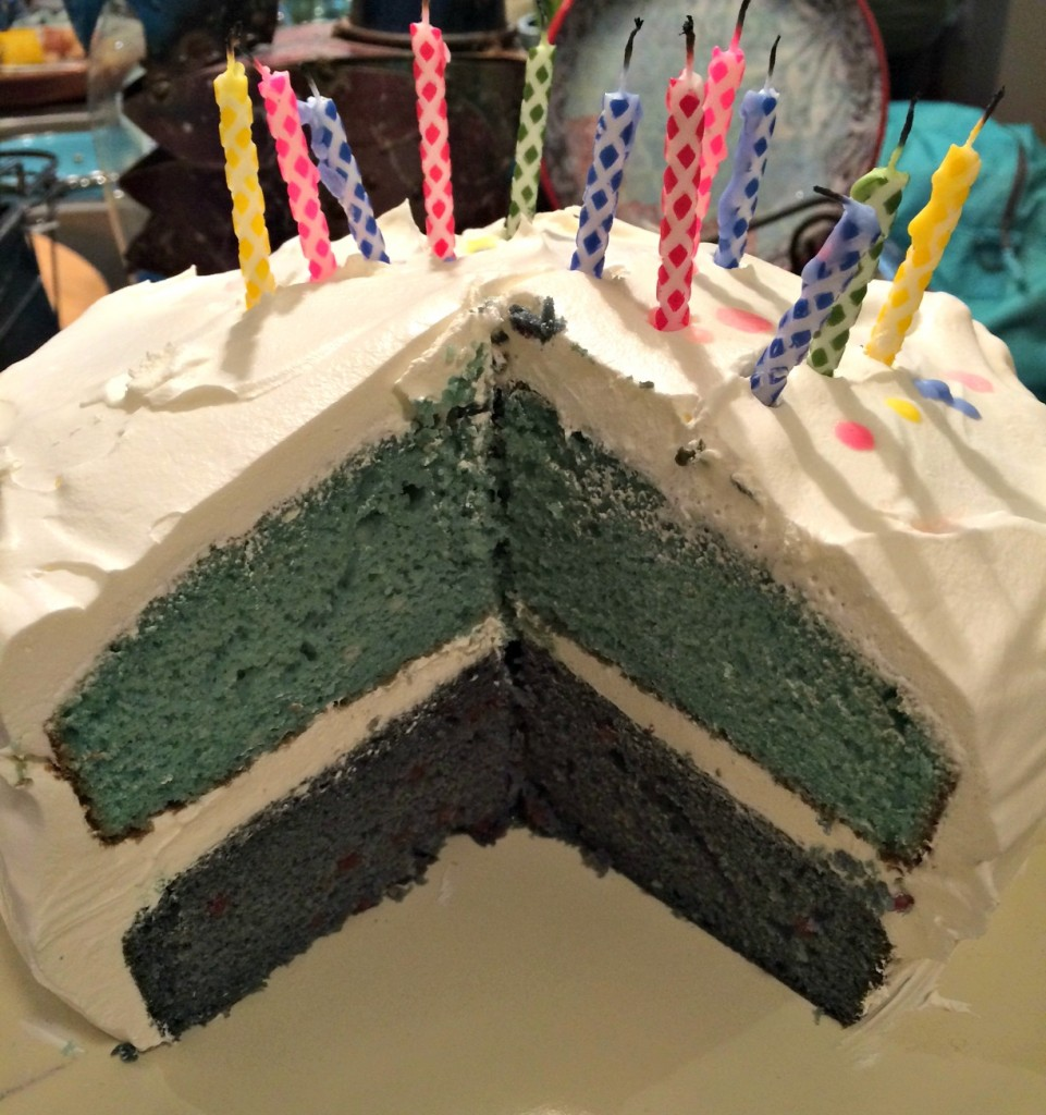 Vanilla and Strawberry Birthday cake