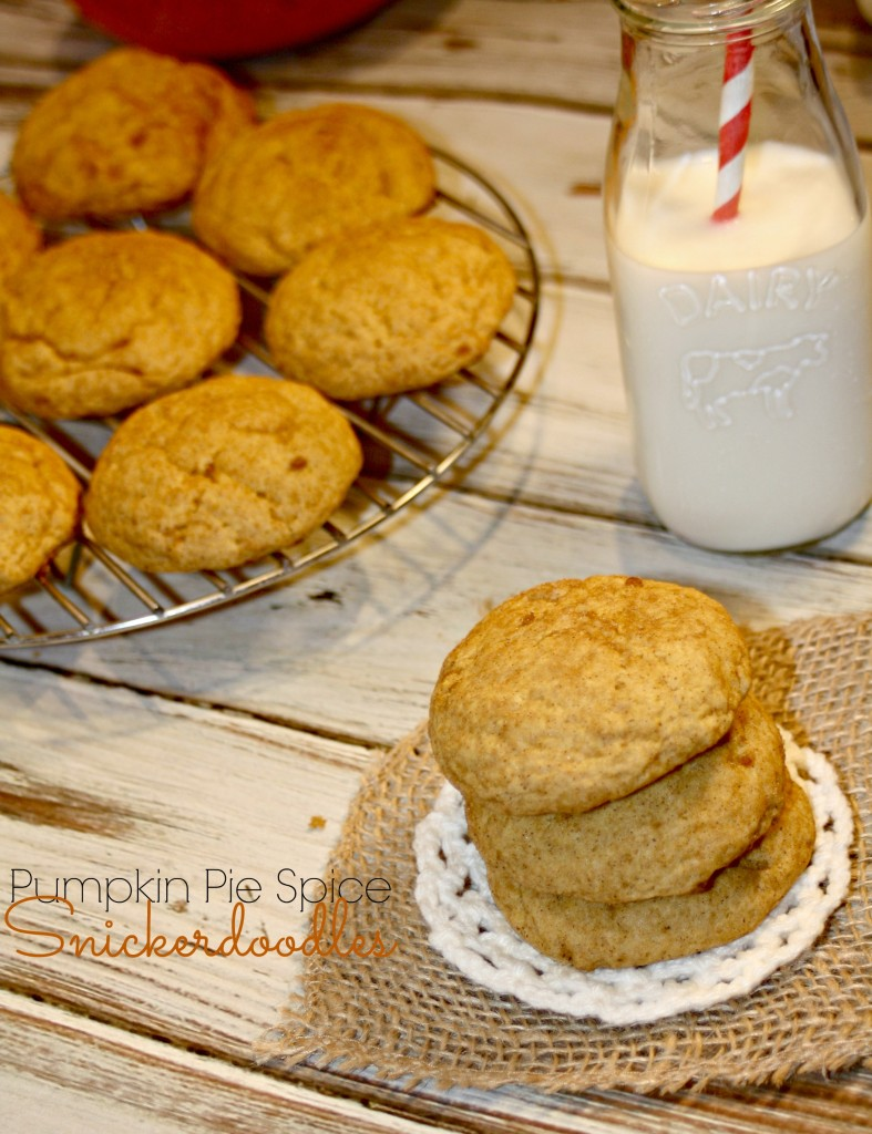 Pumpkin Pie Spice Snickerdoodle Cookies @addicted2recipe