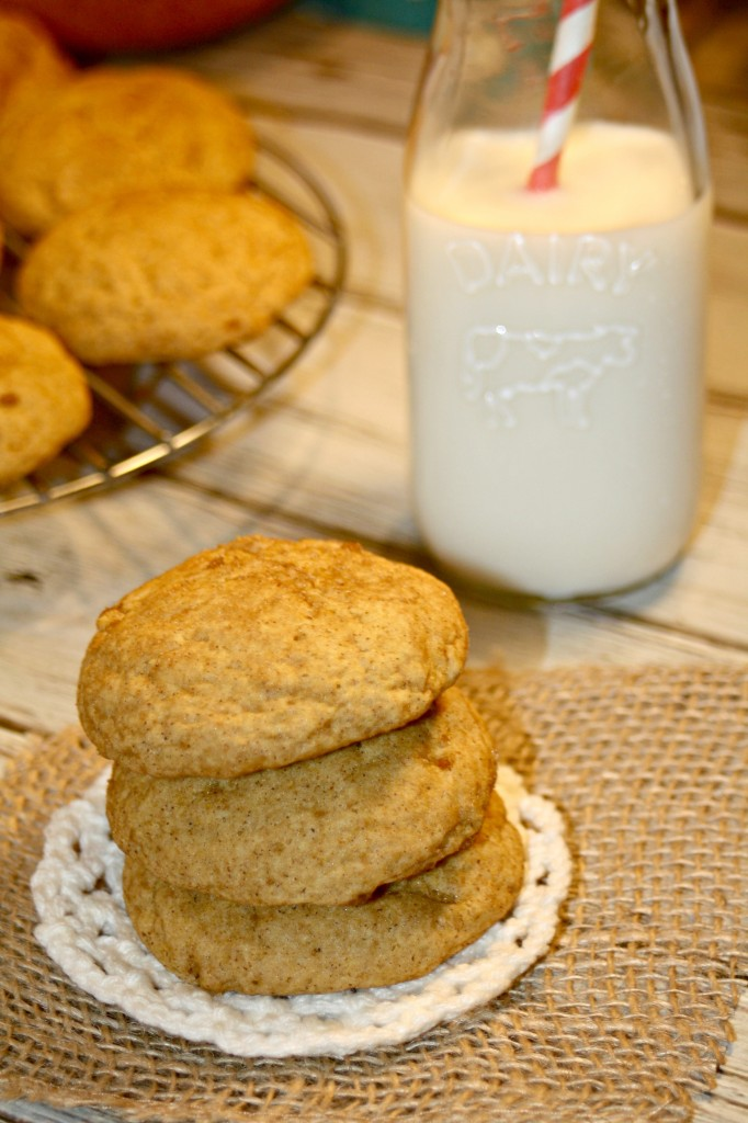 Pumpkin Pie Spice Snickerdoodles Cookie Stack