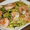 Zucchini Noodles and Shrimp