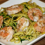 Zucchini Noodles and Shrimp