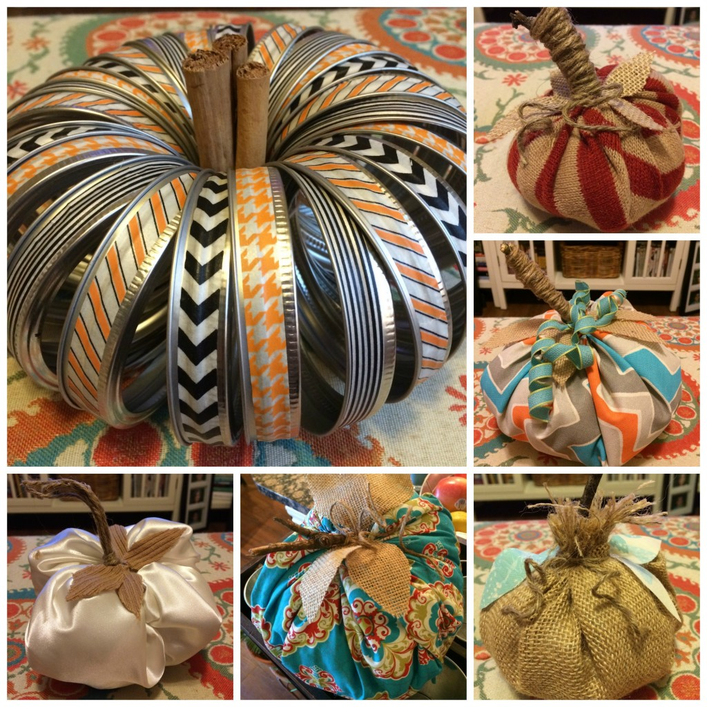 Fall Decor DIY Pumpkins Collage