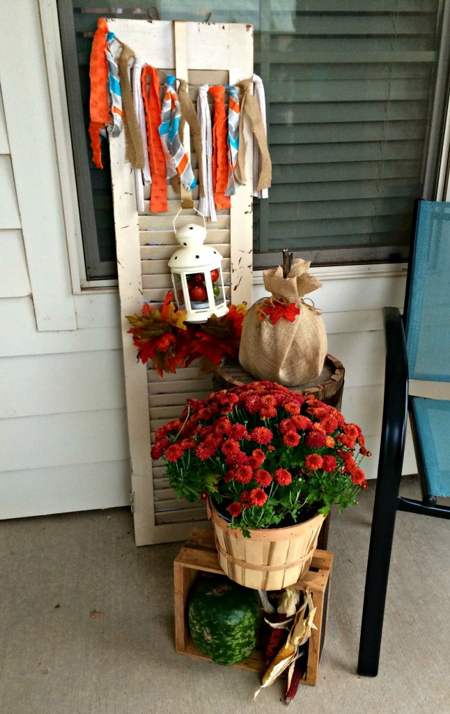 Fall Decor Shutter Area