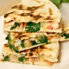 Goat Cheese and Chicken Quesadilla