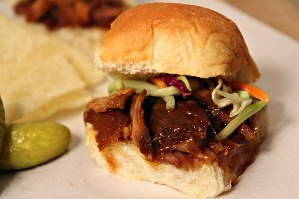 Boubon Peach Pulled Pork Sliders
