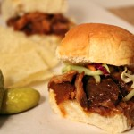 Bourbon Peach Pulled Pork Sliders