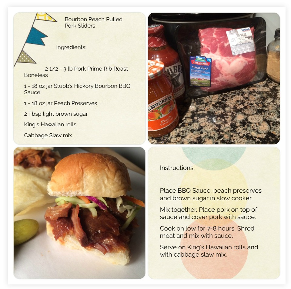 Bourbon and Peach Pulled Pork Sliders Scrabook Page
