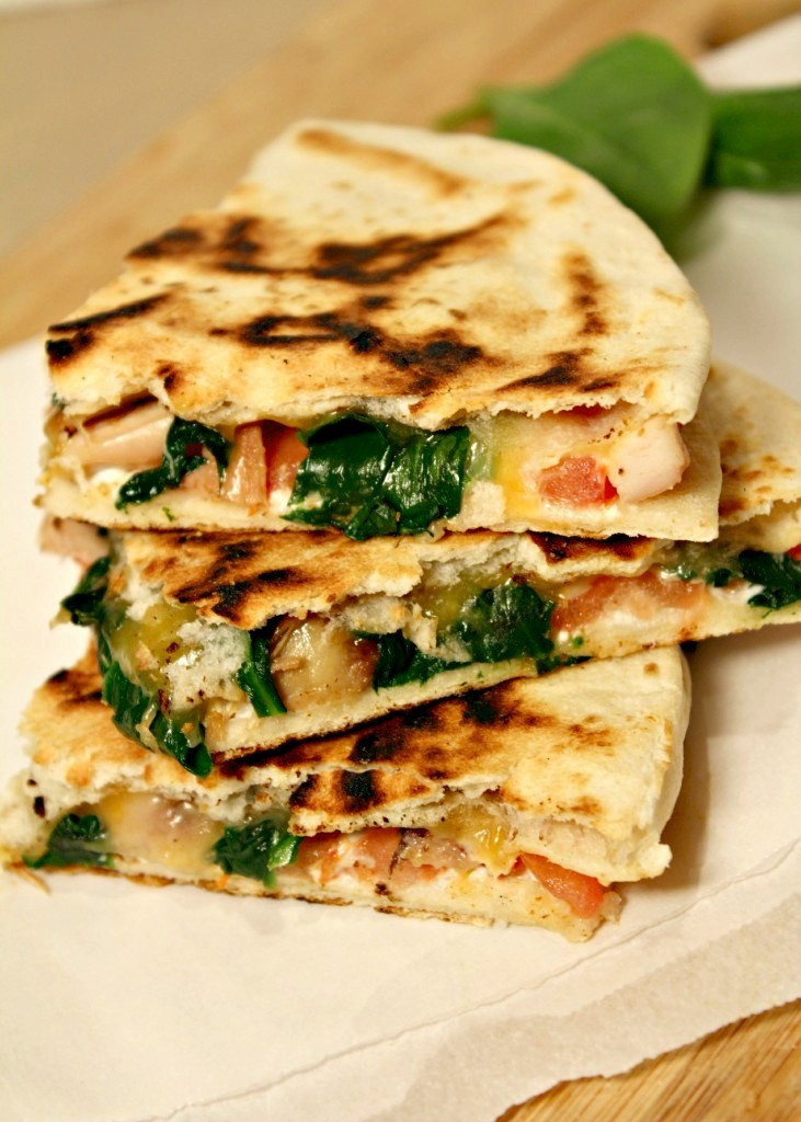Goat Cheese and Chicken Quesadillas
