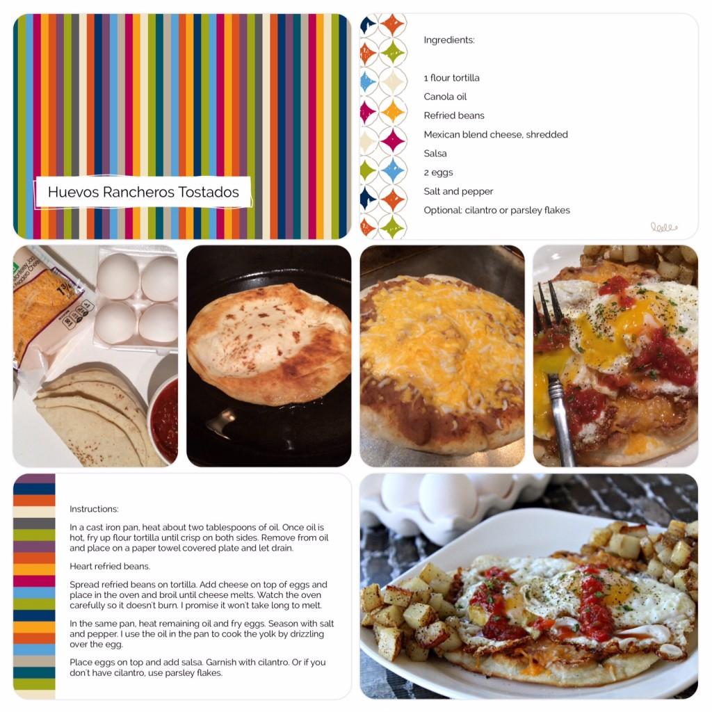 Huevos Rancheros Tostadas Scrapbook page