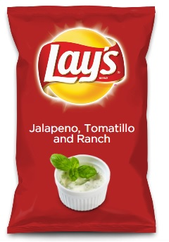Jalapeno Tomatillo and Ranch Chips