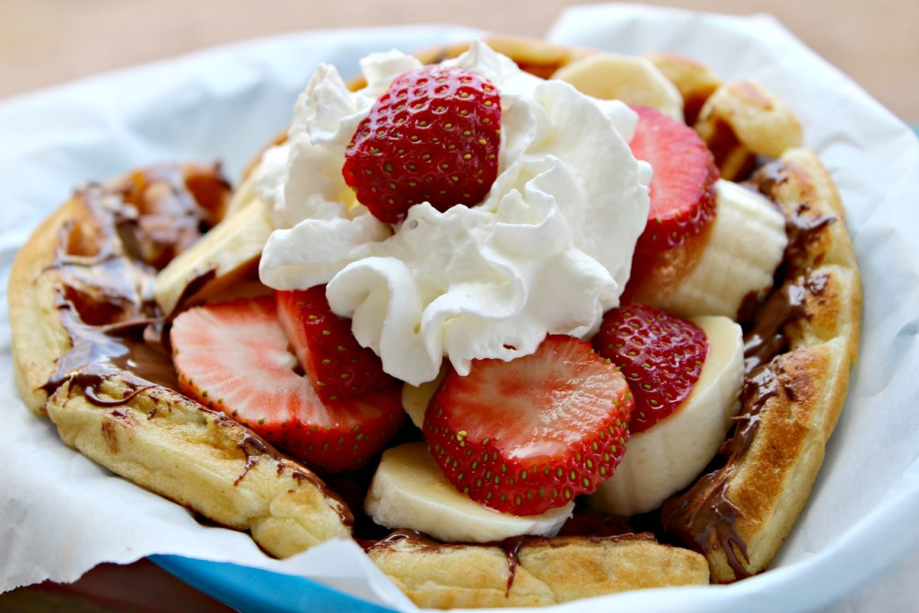 Nutella Strawberry and Banana Waffles @addicted2recipe