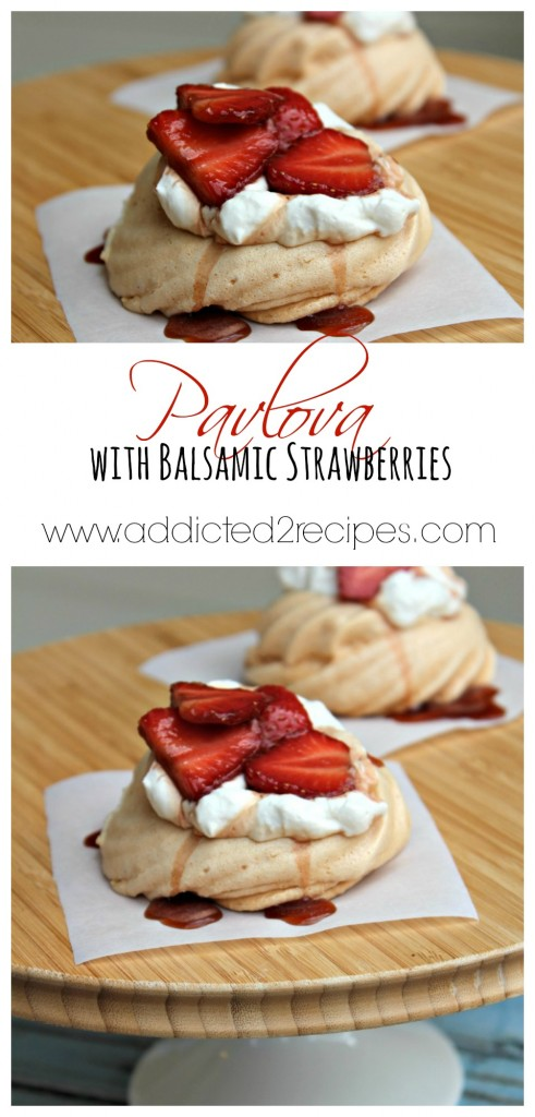 Pavlova with Balsamic Strawberries Collage